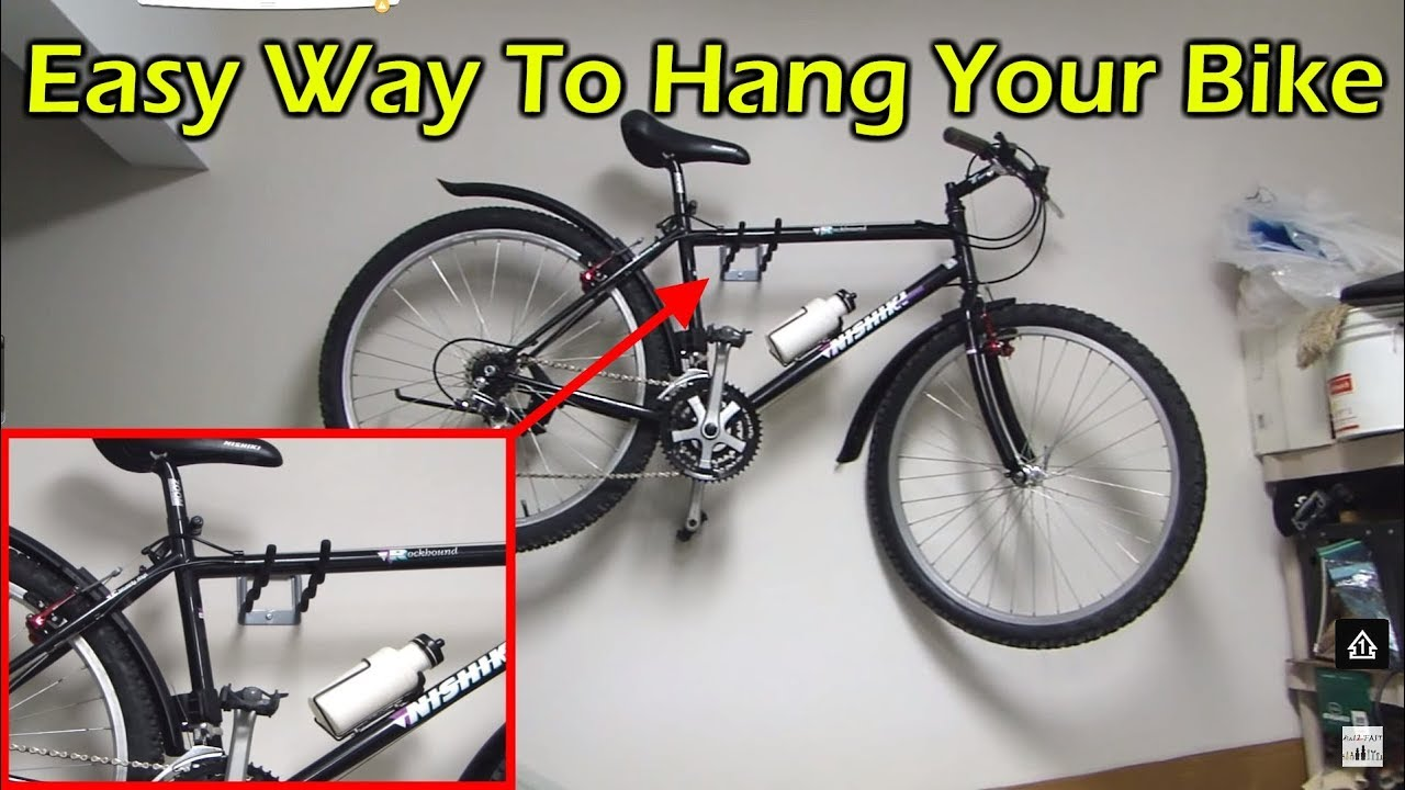 Easy Way To Hang Your Bike In A Garage Without A Rack Or