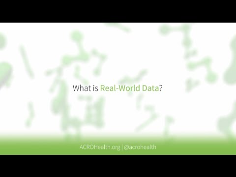 What is Real World Data - First in series