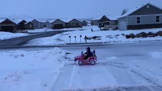 Power Wheels in the Snow