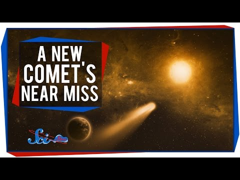 A New Comet's Very, Very Near Miss