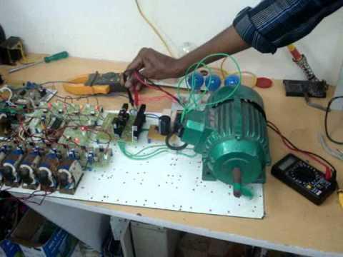 3 Phase Induction Motor Speed Control Vfd Youtube