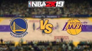 NBA 2K19 - Golden State Warriors vs. Los Angeles Lakers - Full Gameplay