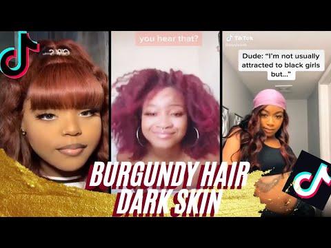 How To Black Girl Hairstyles Guide Burgundy | Maroon | Dark Red TikTok Compilation Popular
