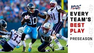 Every Team's Best Play of 2019 Preseason | NFL 2019