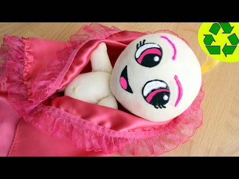 Crafts for dolls: How to make a cloth doll baby