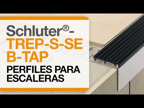 Como instalar remates en cantos de escaleras cerámicas: Perfiles Schluter®-TREP-SE/-S/-B/-TAP