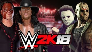 Kane and The Undertaker (Brothers of Destruction) vs Mike Myers and Jason Vorhees   HELL IN A CELL