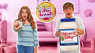 Real Foods Vs Mini Brands Challenge But In Real Life 🛒 | Claire Rocksmith