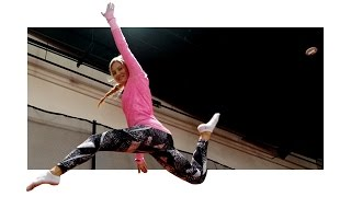 Awesome trampoline tricks! | iJustine