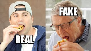 Feeding Bill Gates a Fake Burger (to save the world)