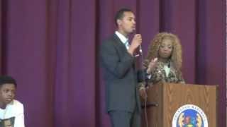 Mr. & Miss Central State University Speak at Thurgood Marshall H.S.