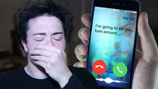 (PROOF THAT SIRI IS REAL) DO NOT FACETIME SIRI AT 3:00 AM *THIS IS WHY* 3 AM SIRI CHALLENGE!!