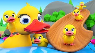 Duck Song - Five Little Ducks Kids Songs + More Nursery Rhymes For Babies Children Toddlers