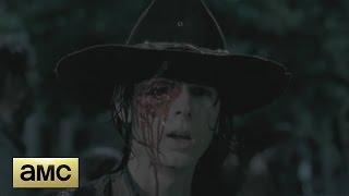 The Walking Dead 6x09 - Carl Loses His Eye Scene