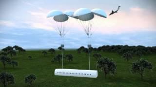 Airplane safety system/Plane with a device to save passengers/Самолет с устройством для спасения