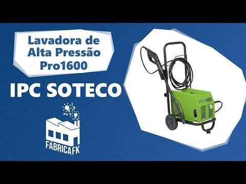 Lavadora de Alta Pressão 2000W Pro1600 Ipc Soteco - 127V - Vídeo explicativo