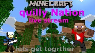Minecraft PE live stream#4/ let's make quilly Nation greater/ giveway#roed to a 100sub