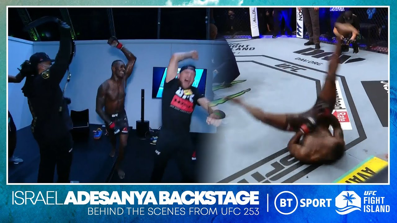 Israel Adesanya break dances next to Paulo Costa and then goes WILD in the dressing room | UFC 253