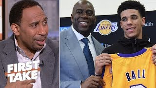 Lakers made a mistake by trading D'Angelo Russell and drafting Lonzo – Stephen A. | First Take