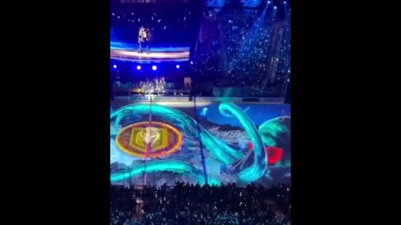 The Las Vegas Knights-Seattle Kraken Pregame Intro Was Wild