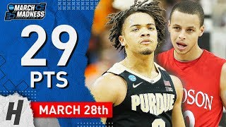 Carsen Edwards Full Highlights Purdue vs Tennessee 2019.03.28 - 29 Points, 4th Straight 25 Pt Game