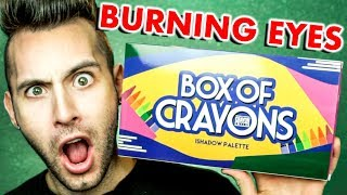 NO BULLSH*T Box Of Crayons Palette Review | BURNED MY EYES!!!!