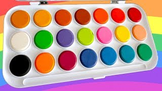 Learn Colors with Watercolor Painting Fun Learning / Surprise Toys For Baby - YouTube