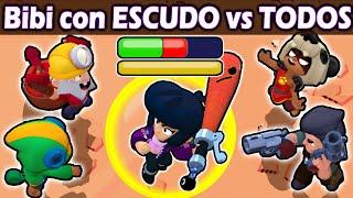 BiBi con ESCUDO VS TODOS | NUEVA Habilidad Estelar | Brawl Stars