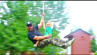 ZIP LINING WITH KIDS!