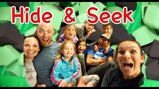 FAMILY SARDINES @ TRAMPOLINE PARK | HIDE & SEEK