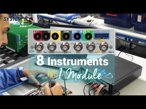 ¡ 8 instrumentos en 1 módulo ! La solución rentable para prueba y medida