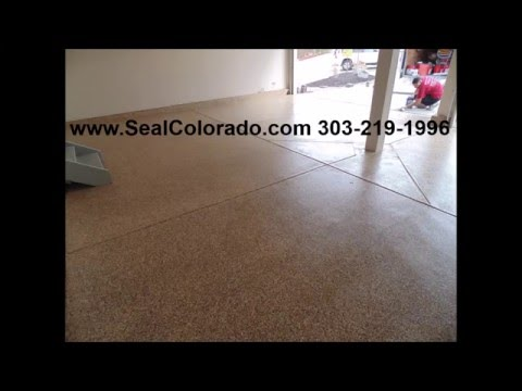Seal Colorado Epoxy Garage Floor in Castle Rock, Colorado 303-219-1996