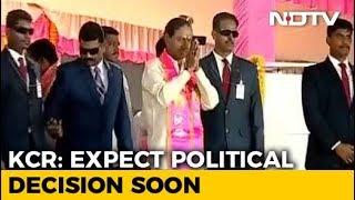 No Word on Polls, KCR Talks