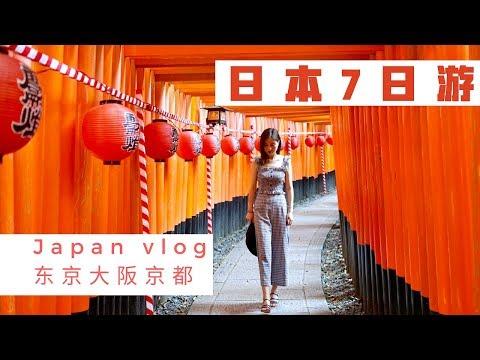 Japan Vlog 【日本7日游】东京 + 京都 + 大阪 | 吃、住、购物 全攻略 | 环球影城 | 和牛 | 药妆