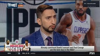 FIRST THINGS FIRST | Already convinced Kawhi and George are the best duo in the NBA?