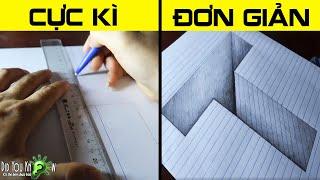 Cách vẽ chữ T lún sâu - Vẽ 3D đơn giản (Easy 3D Trick Art)