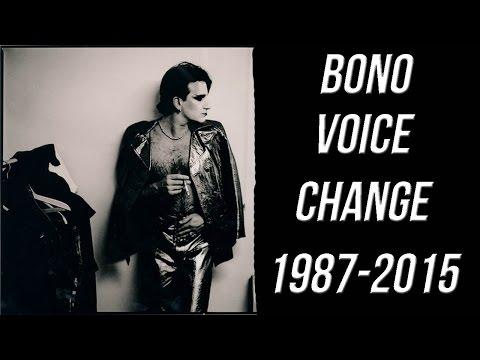 Bono - voice change 1987-2015