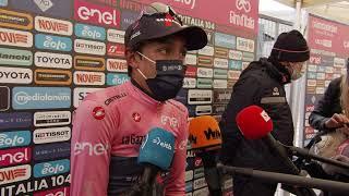 Egan Bernal -  Entrevista en la llegada - Etapa 9 Giro d'Italia 2021