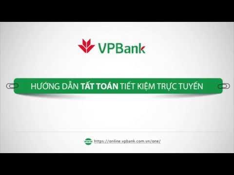 Hướng dẫn tất toán tiết kiệm trực tuyến - VPBank Online