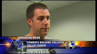 CBS 11's Talks to Tim Macmahon after the Practice Facility Collapse 5/2/09