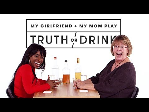 My Girlfriend & My Mom Meet for the First Time (Kayla & Janet)   Truth or Drink   Cut