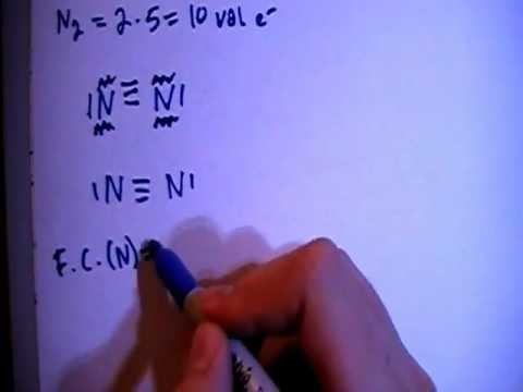 Dinitrogen N2 Lewis Dot Structure - YouTube