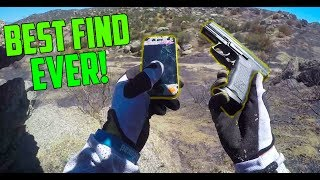 FOUND BURIED GUN AND IPHONE!