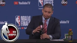 [FULL] Tyronn Lue on overturned LeBron James-Kevin Durant foul call: 'It ain't right' | NBA on ESPN