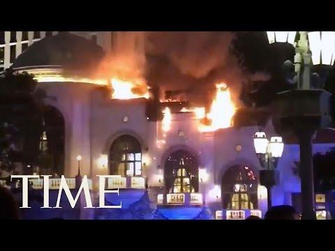 In fiamme il Bellagio di Las Vegas