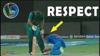 India vs Pakistan   Cricket Respect Moments   Sportsmanship   Emotions   Asia cup 2018