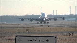 Decollo airbus A380 Emirates Malpensa 5 gennaio 2012