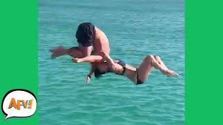 He FLIPPED, She DIDN'T! 😂   Funny Fails   AFV 2021