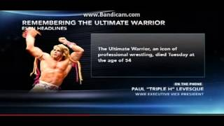 Triple H Talks to ESPN About The Ultimate Warrior's Death