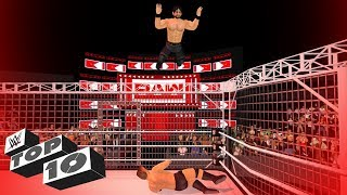Top 10 Extreme Cage Dives   WR3D